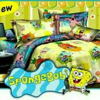 Bedcover Set 120x200 Sponge Bob / Bed cover Sprei Single Spongebob