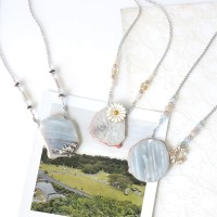 Truly Tranquil Necklace // Kalung Batu Agate Stone Slice
