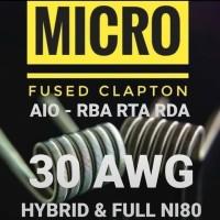[ MICRO / NANO ] FUSED CLAPTON COIL NI80 NI90 Premade Lite Light