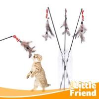 Mainan Kucing Stick Tongkat Double Bulu Feather Lonceng Murah