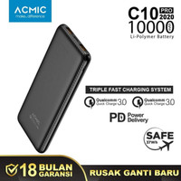 ACMIC C10PRO GEN3 10000mAh power bank Quick charge 3.0 + PD power puth