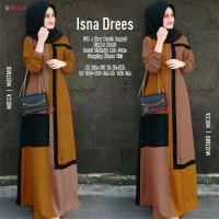 dress muslim modern real pict baju gamis muslim terbaru-isna dress