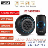KERUI M523 Bel Pintu Rumah Wireless Waterproof Multi Tone Memory