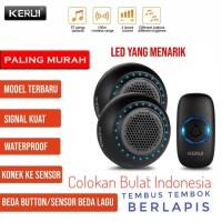 KERUI M523 Bel Pintu Rumah Wireless Multi Tone Memory 2 Receiver