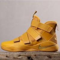 Sepatu Basket x Nike Lebron Soldier James 11 Wheat Premium Quality