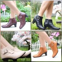 Boots Wanita Import Doble Busa High Quality Kulit Heels PS2