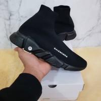 "Sepatu Balenciaga Top Speed Trainer Triple Black"""