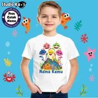 Kaos Anak Laki-Laki Baby Shark / T-Shirt Anak / Atasan Anak Laki-Laki