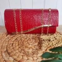 tas wanita tas pesta tas buat ke mall Clutch mewah Jodha Crocodile Clu