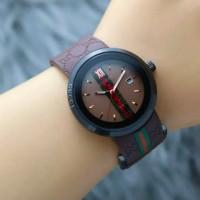 Best seller jam tangan wanita GUCCI super tanggal aktif strap rubber