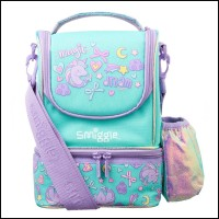Smiggle Wander Junior Unicorn Series Backpack Lunch Box Tempat Minum