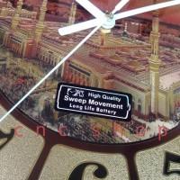 Jam Dinding Masjid Kaligrafi Besar 40Cm Sweep Mewah Elegan Embossed -