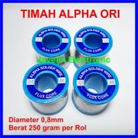 Timah Alpha / Alfa 0.8mm 0,8mm Flux Core Solder Wire 250g