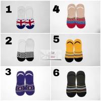 Kaos Kaki Hidden Socks Kaos Kaki Invisible Grosir England Flag Checker