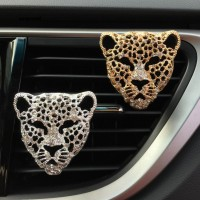 Baru Klip Parfum Bentuk Kepala Leopard untuk Ventilasi AC Mobil