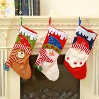 Lethe Kaos Kaki Gantung Motif Natal untuk Dekorasi Rumah / Pesta