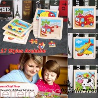 Baru Mainan Puzzle Kayu 3D Gambar Kartun Bintang untuk Edukasi Bayi