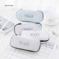 Kotak Pensil Motif Print Marble Bahan Kulit Imitasi Anti Air