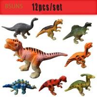 12PCS Kids Gift Plastic Jurassic Play Model Toys Mini Dinosaur