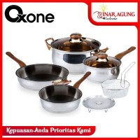 ECO COOKWARE SET / PANCI SET OXONE STAINLESS STEEL OX-911 [6 PIECES]