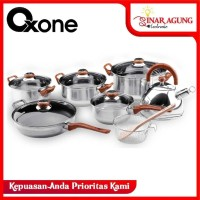 ECO COOKWARE SET / PANCI SET OXONE STAINLESS STEEL OX-933 [14 PIECES]