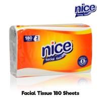 Tissue Nice Facial 180 Sheets 2 Ply / Tissue Nice 180 Lembar