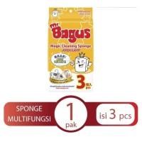 Mr. Bagus Magic Sponge 1 Pack Isi 3 pcs / Sponge Ajaib / Magic Sponge