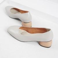 Guzzini MN 356 Abu - Sepatu Heels Polos Casual 3cm