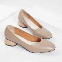 Guzzini MN 356 Mocca Coklat - Sepatu Heels Polos Casual 3cm