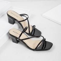 Guzzini ND 753 Hitam - Sandal Block Heels Casual