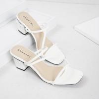 Guzzini ND 753 Putih - Sandal Block Heels Wanita