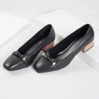 Guzzini MN 355 Hitam - Sepatu Heels Casual 3cm