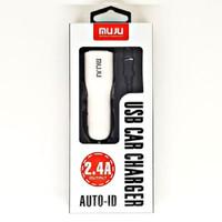 SKU-1132 CAR CHARGER FAST 2 USB 2.4A MUJU MJ-C05 CAS MOBIL MJC05