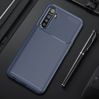 Real Me Realme XT Carbon Case Casing Cover Hardcase Softcase bagus