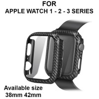 Fiber Carbon case Apple Watch 1 - 2 - 3 iWatch casing cover 38mm 42mm