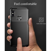 Xiaomi Redmi Note 5 7 8 Pro carbon Hard Soft Back Case Cover Pelindung