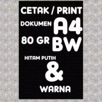 CETAK/PRINT DOCUMENT 80g/70g kertas hvs A4/F4