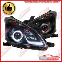 HEAD LAMP - TOYOTA AVANZA VVTI 2011 - 2014 - PROJECTOR - ANGEL EYES