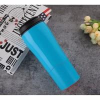[BIRU] Mighty Mug / Botol Ajaib Anti Tumpah Termos Gelas Tumbler H331