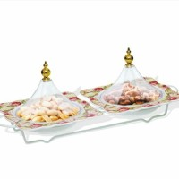 Small Deep Plate With Cover / Piring Kue Vicenza 5pcs BA807