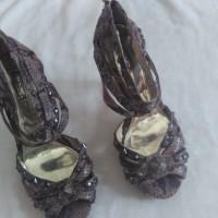 Sepatu High Heels Kulit Ular Preloved