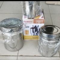 tempat wadah teh, kopi, gula ROSH canister set isi 3 pcs stainless