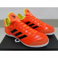 SEPATU FUTSAL ADIDAS COPA TANGO 18.1 LEATHER ENERGY MODE ORANGE