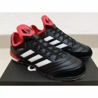 SEPATU FUTSAL ADIDAS COPA TANGO 18.1 LEATHER BLACK CORAL RED