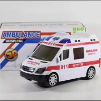 Mainan Mobil Ambulance Bump & GO I mainan edukasi Mobil Mobilan Ambula