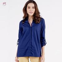 Kemeja Lengan Panjang Wanita / Nany Navy Shirt 24412T5NA - Bodytalk