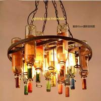 L677/4L ( 11 bottol) lampu gantung botol vintage hias lighting rusty