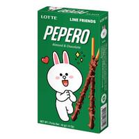 pepero almond line friends 32gr-stick biskuit berlapis cokelat almond