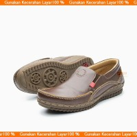 Sepatu Casual Pria Slip On Kulit Asli Limited Bukan Kickers A994