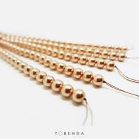 Swarovski Pearl (Mutiara) ART 5810 8MM - Rose Gold / Pack (10pcs)